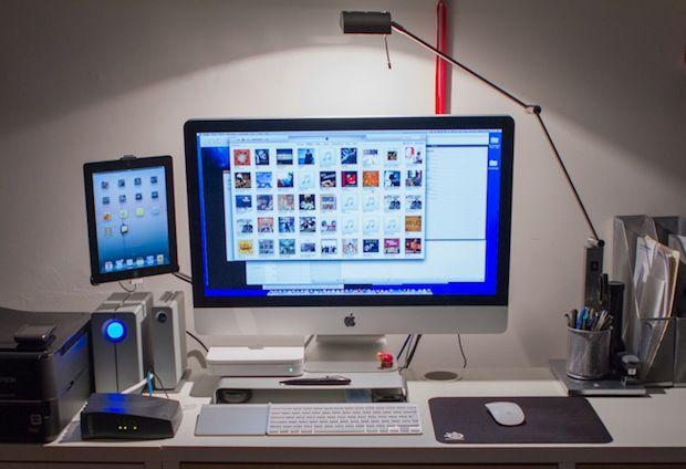 Nice Compact Desk Setup For Imac And Ipad Great Use Of E