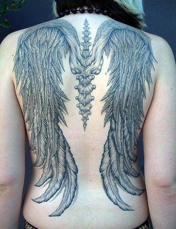 Angel Wings Tattoos Design Women Full Back Tats Pinterest
