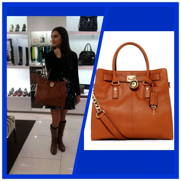 Laurel Abao Munn with Michael Kors Hamilton large tote in Luggage $358  http://