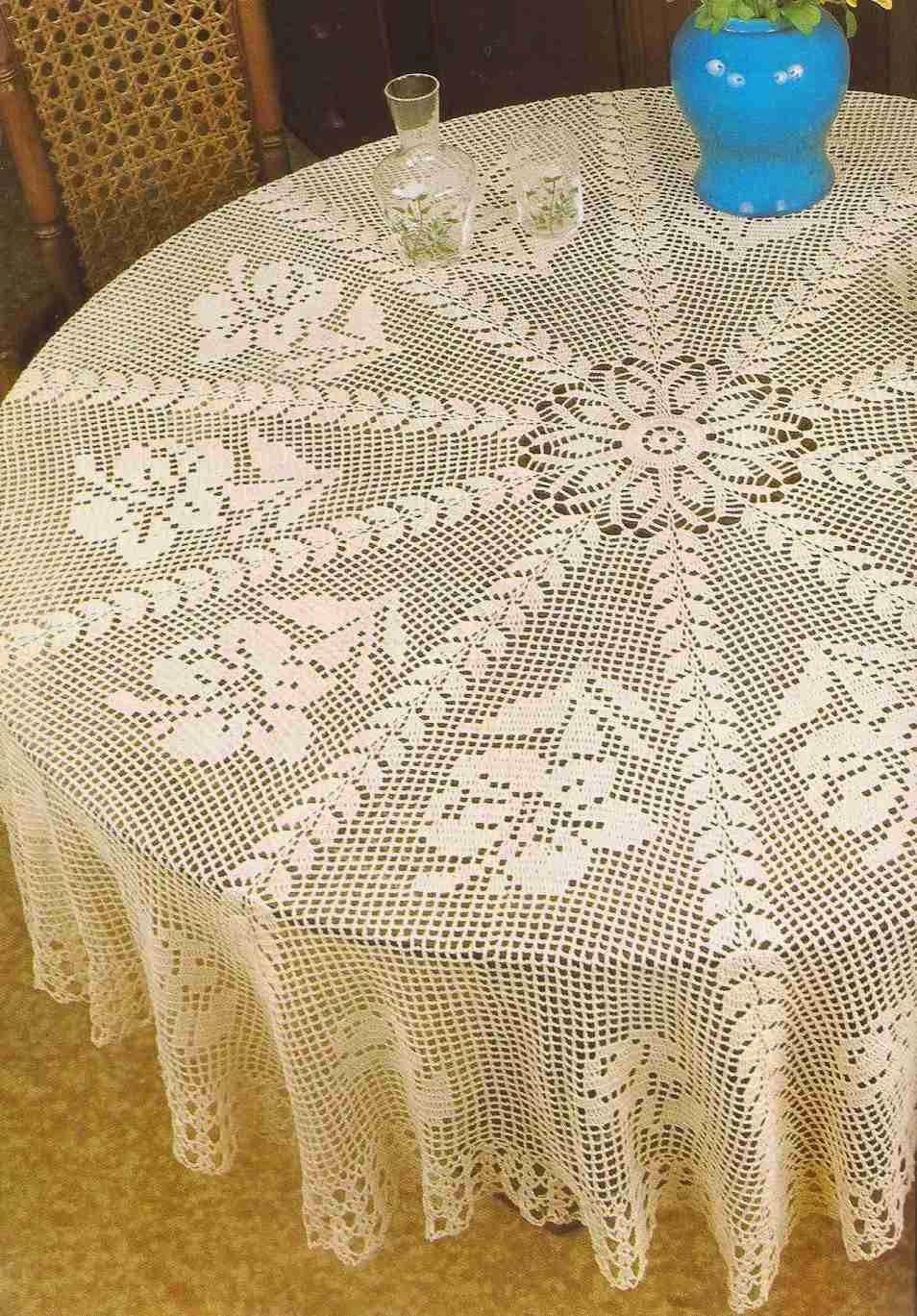 Tapete redondo con flores a Crochet | Manteles | Pinterest ...