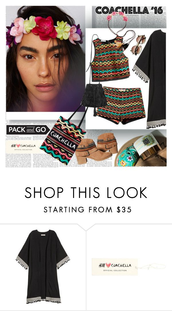 """""""Coachella Pack and GO"""" by stylepersonal ❤ liked on Polyvore featuring H&M, Carole and packforcoachella"""