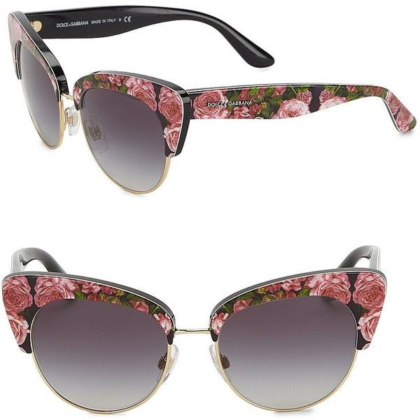 f86aa63833d Dolce  amp  Gabbana Sicilian Carretto 52MM Acetate  amp  Metal Cat s-Eye.