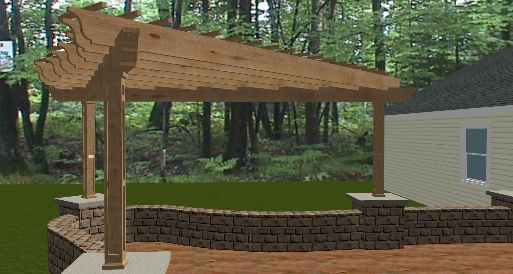 a bell shaped pergola in southwest fort wayne u2013 the icing on the