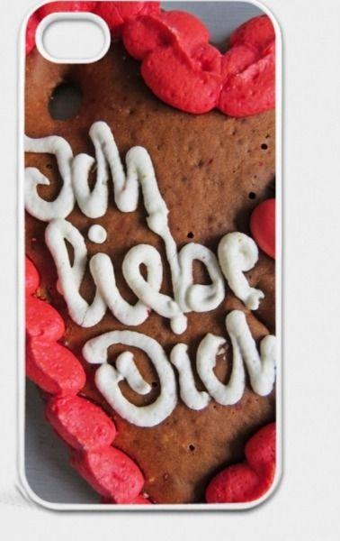 """Hülle """"Ich liebe Dich""""-Lebkuchenherz für iPhone von Art-MG auf DaWanda.com"""