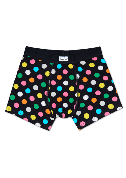 Underwear for Men - Black Men's Boxer Brief with Colorful Big Dots ...