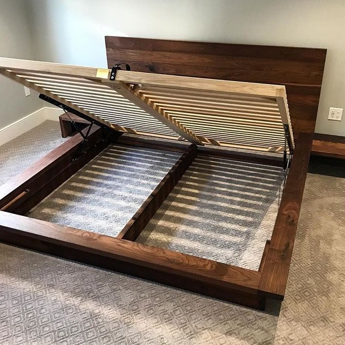 This Walnut And Ash Bed Frame Was Designed To Provide Maximum