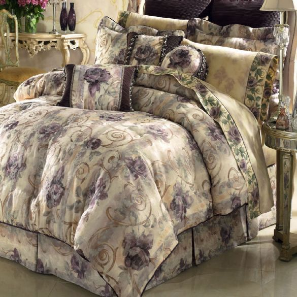 sets croscill bedding reversible tree set ava comforter beige