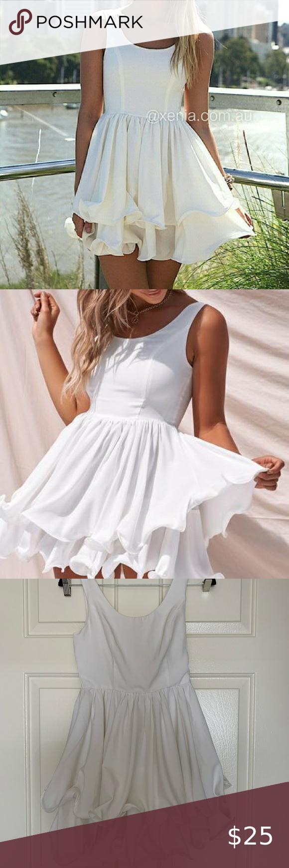 Xenia Boutique White Tiered Ruffle Dress Tiered Ruffle Dress Dresses White Tiered Dress [ 1740 x 580 Pixel ]