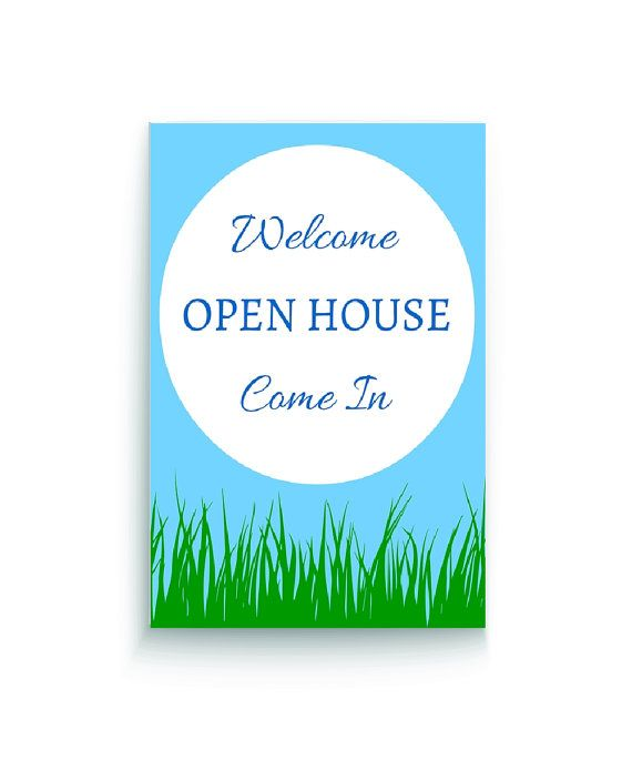 Real Estate Open House Welcome Sign | Open House, Real Estate And