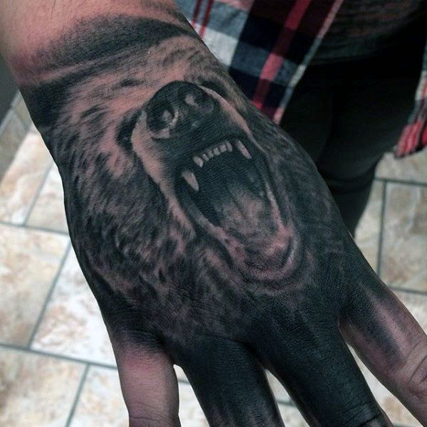 Bear Tattoos For Men Animal Tattoos For Men Bear Tattoos Bear
