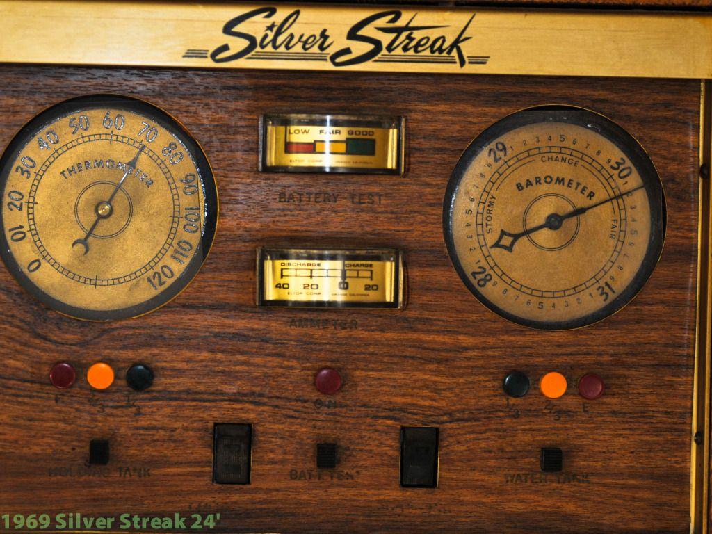 1969 Silver Streak 24 Vintage Travel Trailer Control Panel Trailer Living Vintage Travel Trailers Vintage Camper