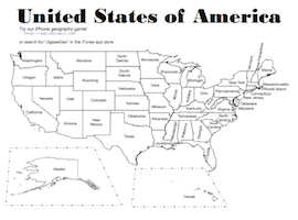 Free printable United States of America (USA) Map. Includes two ...