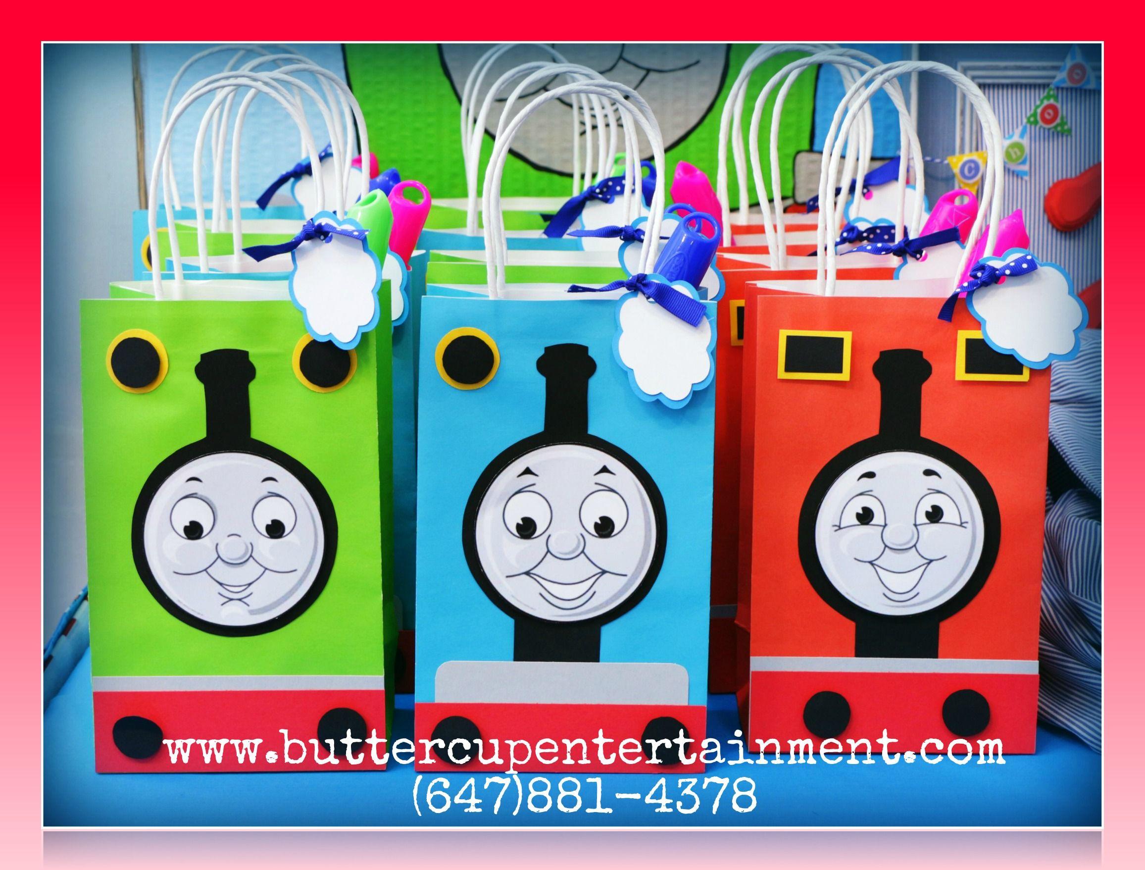 custom Thomas loot bags Mallys 2nd Birthday Pinterest Loot