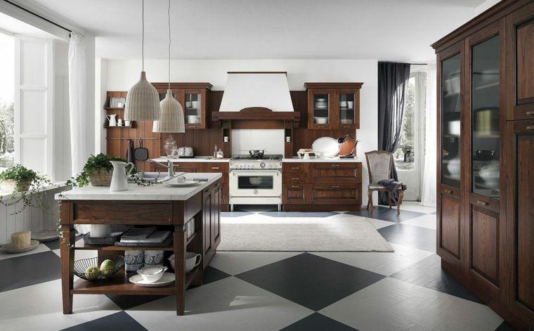 cocinas vintage clasica muebles madera ideas