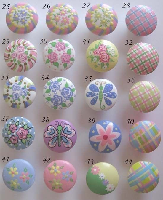 Cute idea painted drawer knobs for children 39 s furniture for Children s bureau knobs