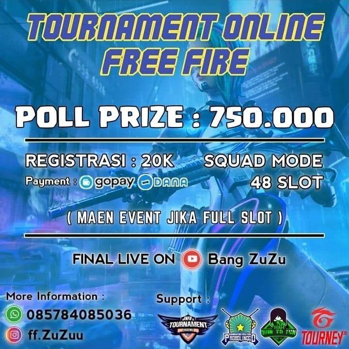 Tournament Online Free Fire Mode Squad 48 Slot Tournaments Squad Slot