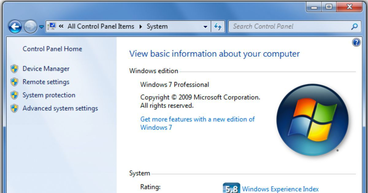 How To Check Your Computer S System Information On Windows 7 Web