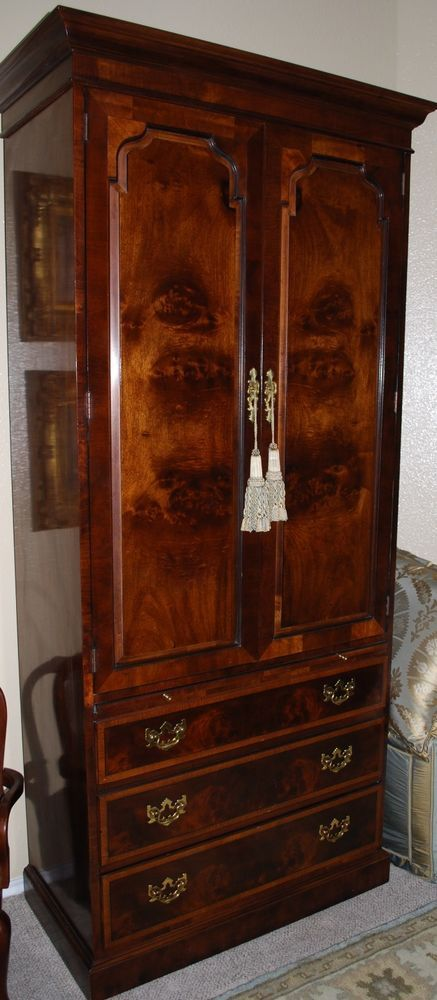 Henredon Aston Court Armoire Wardrobe Entertainment