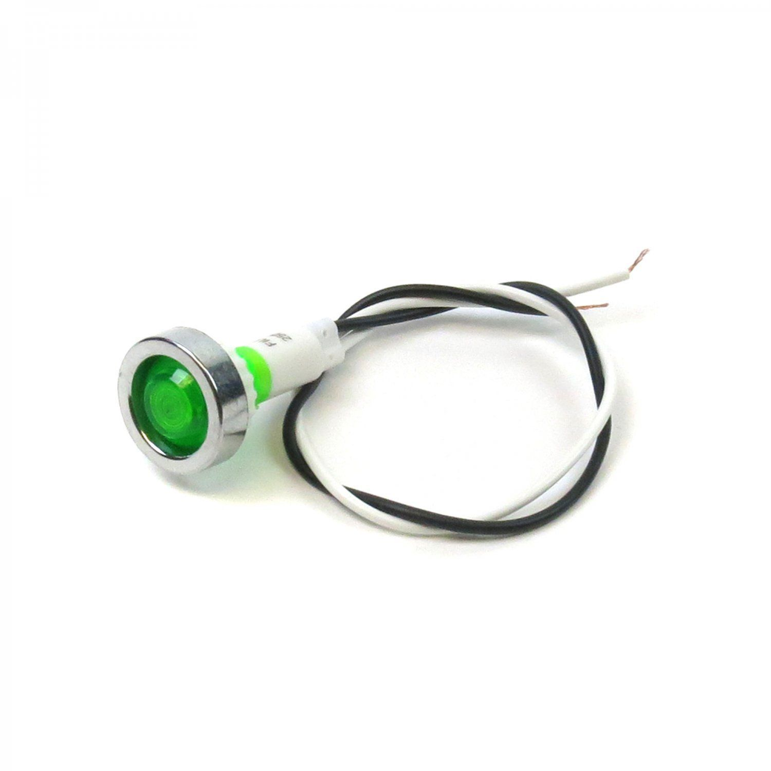 Green Led Indicator Light 12v Vintage Dash Part Accessory Lamp Pilot Pre Wired Ebay Indicator Lights Green Led Led Indicator