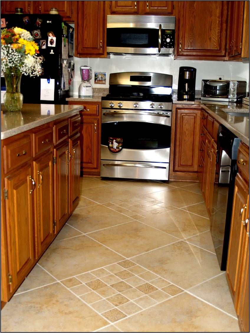 Kitchen flooring ideas love this floored flooring for Tile patterns for kitchen floor