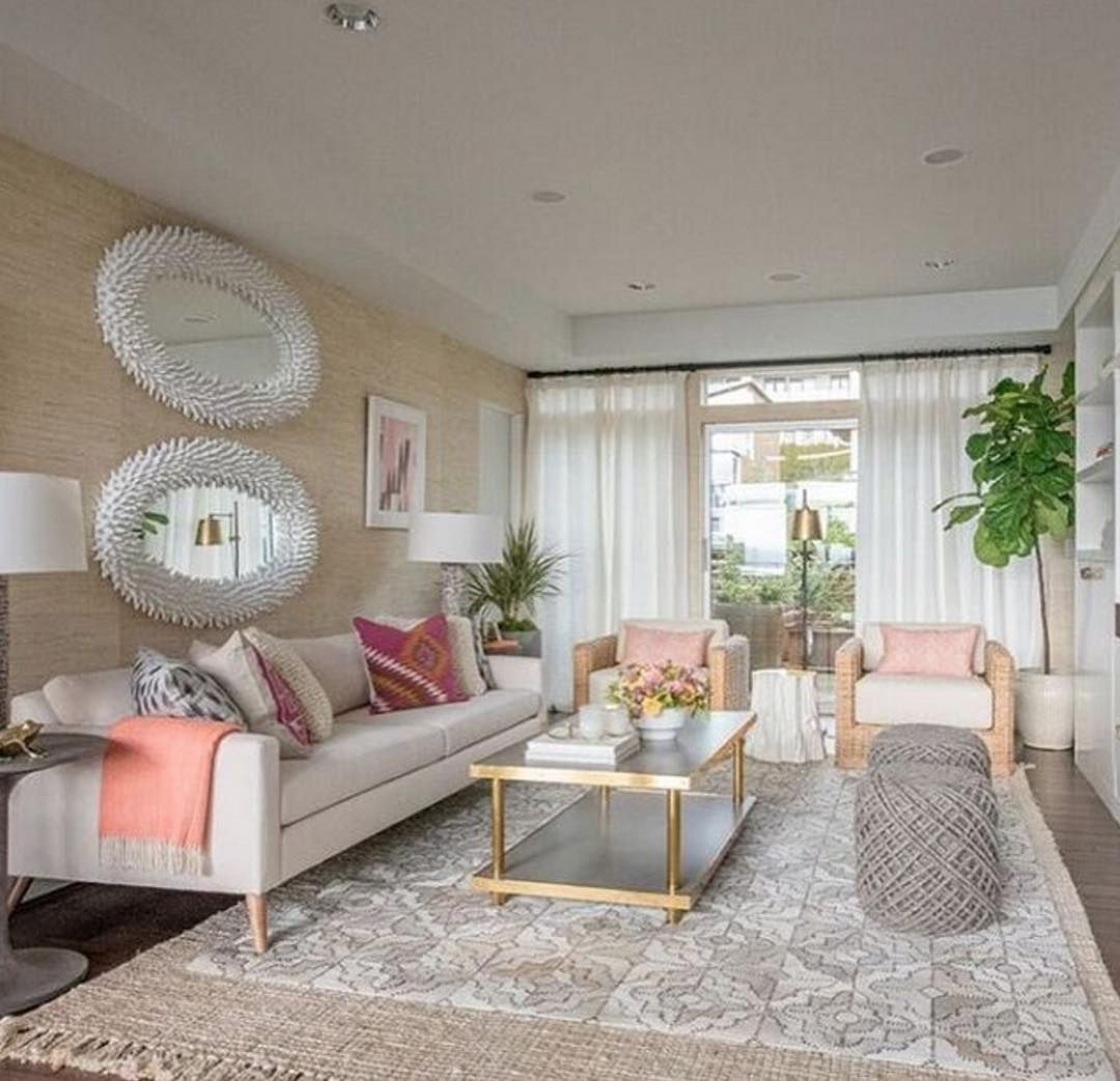 this bright and beachy family room has us dreaming of warmer weather