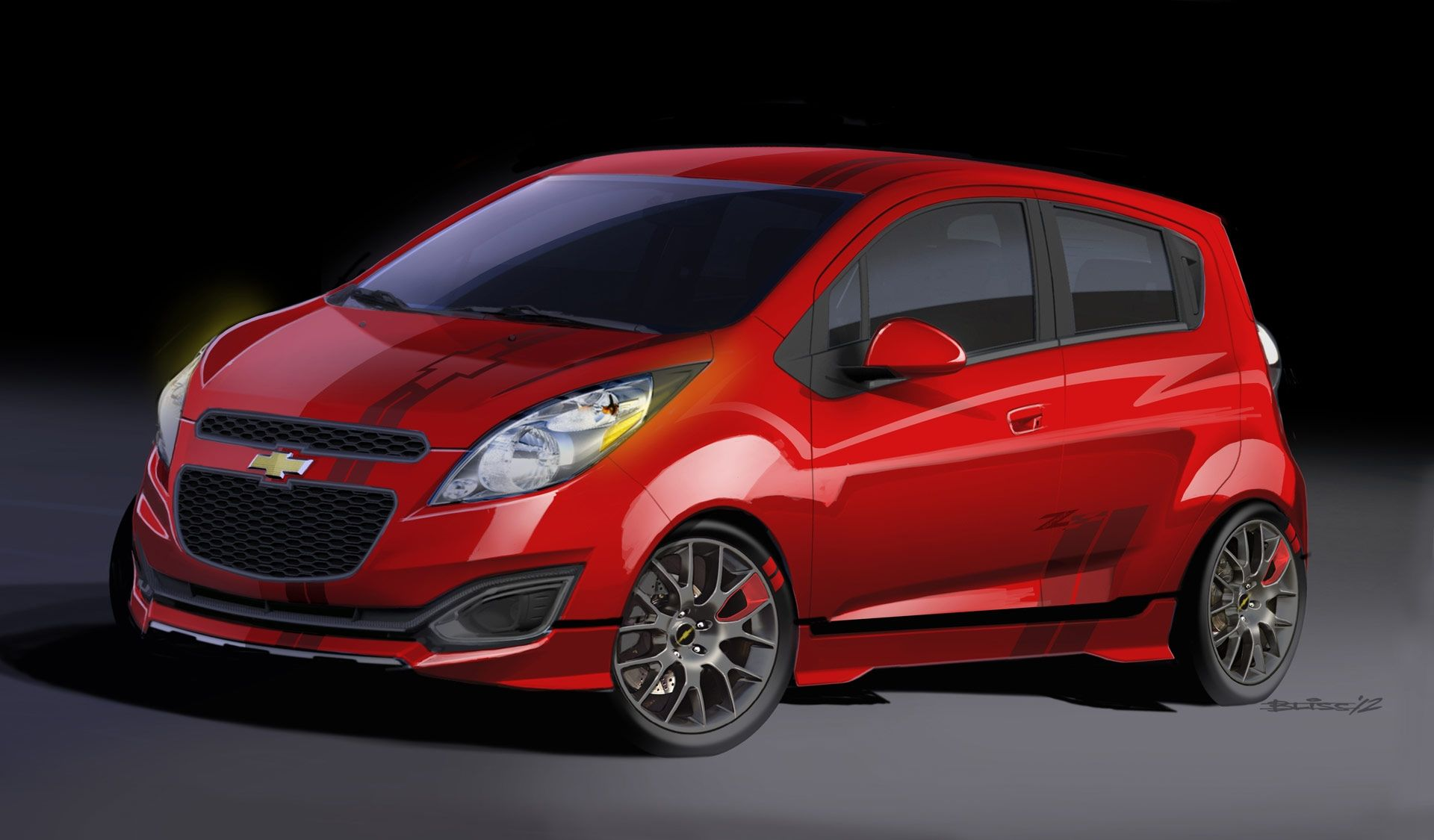 Red Chevrolet Spark Wallpaper Hd Chevrolet Spark Coches