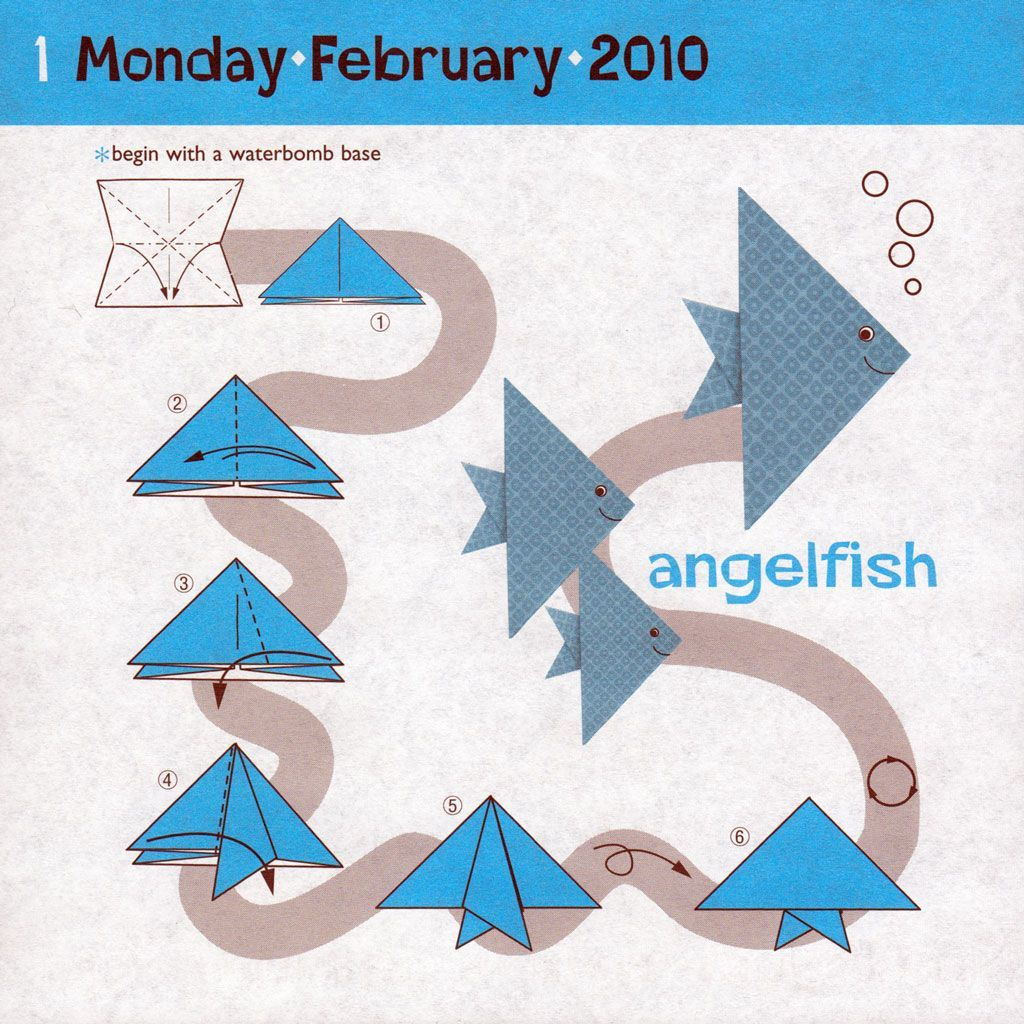 Pin By Souad Yaseen On Save Pinterest Origami Fish And Swan Diagram Instructions For Angelfish How To Make Step