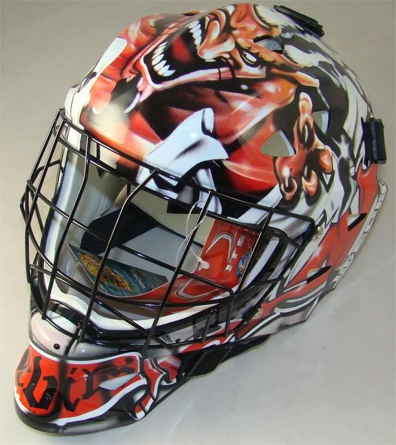 how to draw a hockey goalie mask