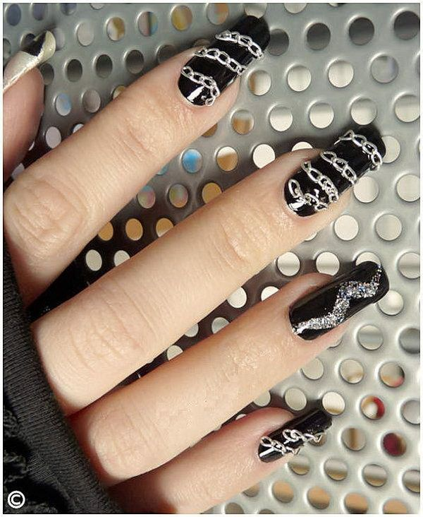 Party french nail designs for christmas and new years eve nail party french nail designs for christmas and new years eve prinsesfo Image collections