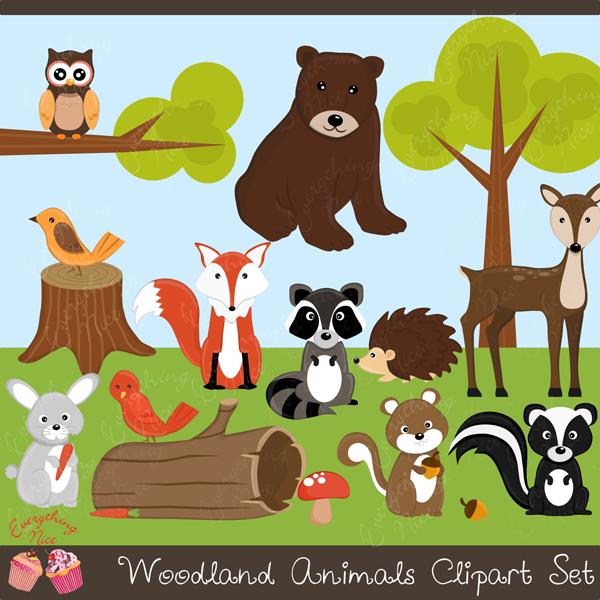Woodland Animals Clipart Set Animal Cliparts Cliparts Animal Clipart Woodland Animal Art Clip Art