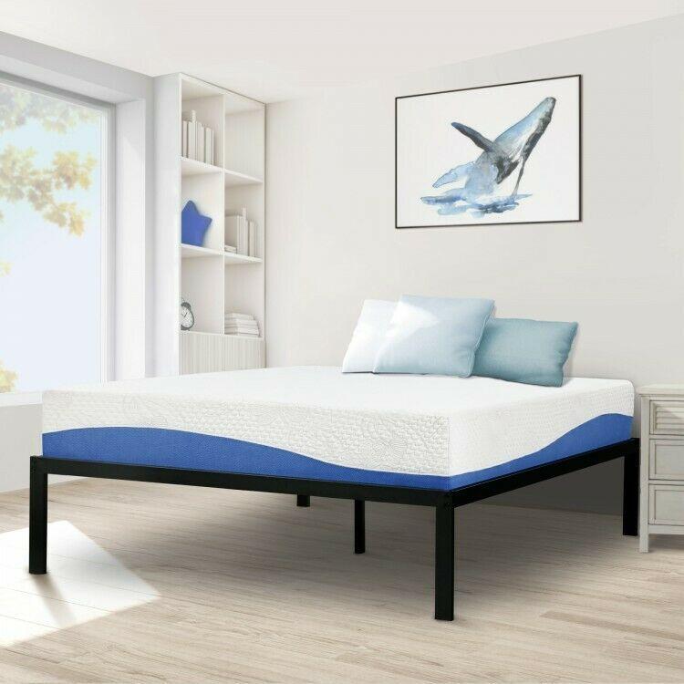 Details About Full Metal Bed Black Bedframe High Profile Bedstead