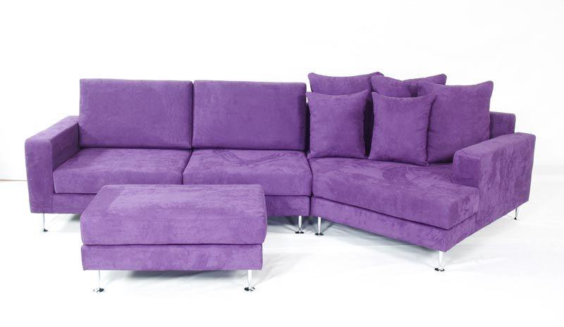 EMILIA A Modern Leather Or Microfiber Sectional Sofa
