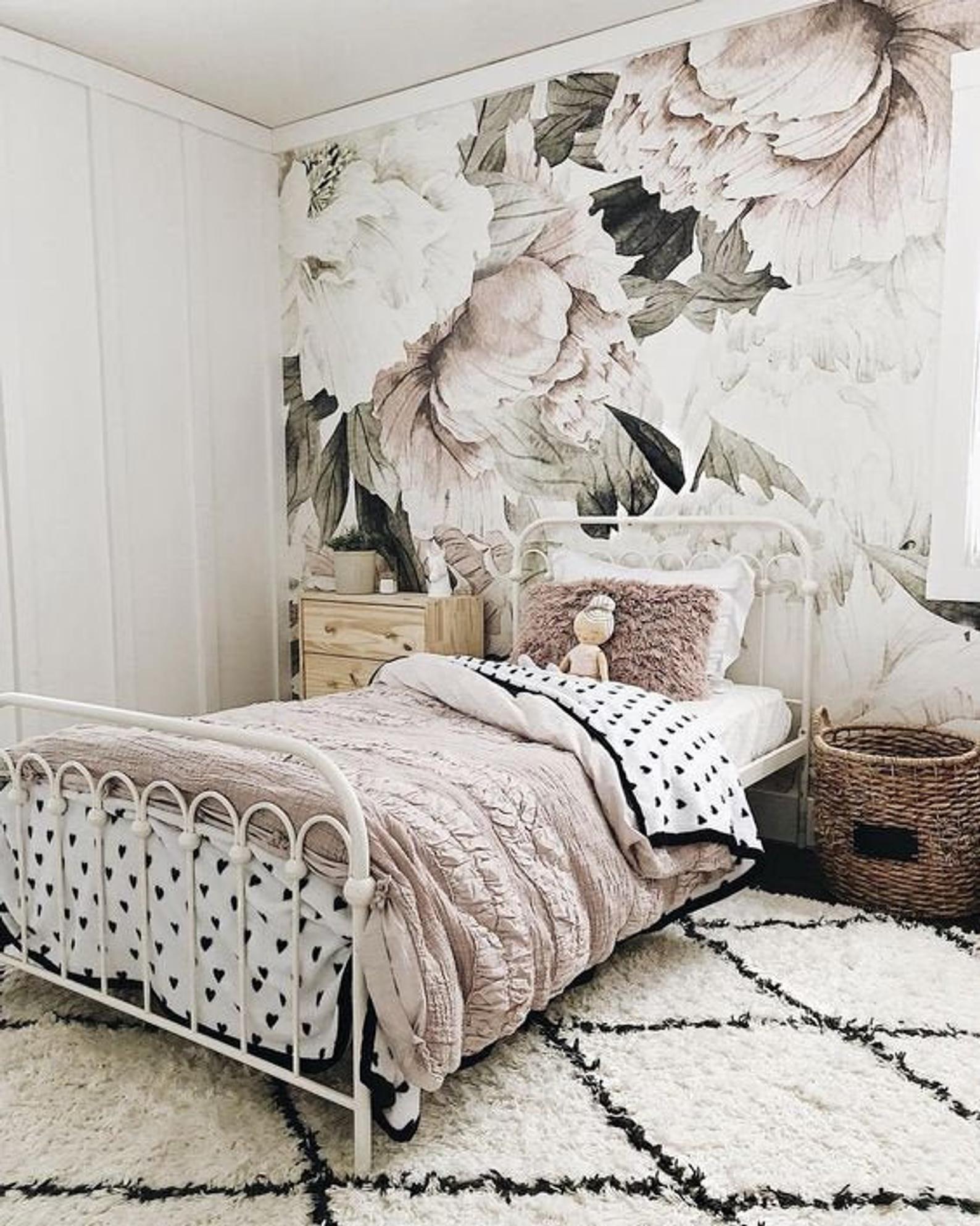 Floral Wallpaper Removable Wallpaper Peel And Stick Wallpaper Etsy Floral Wallpaper Removable Wallpaper Self Adhesive Wallpaper