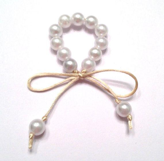 Anillo de servilleta perla anillos anillos de por for Manualidades souvenirs navidenos