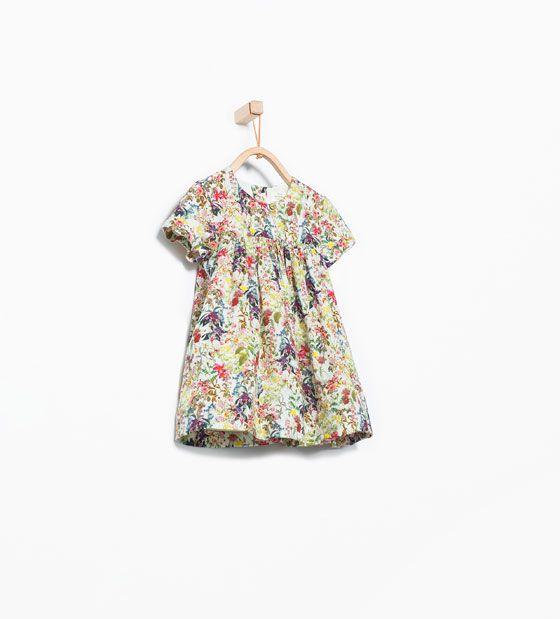zara vestidos flores niña