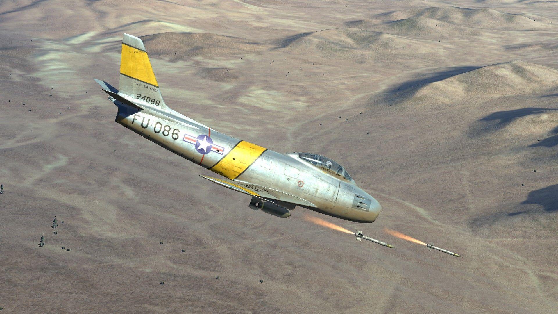 F-86 Sabre firing rockets (DCS World) | Gaming 3D Graphics