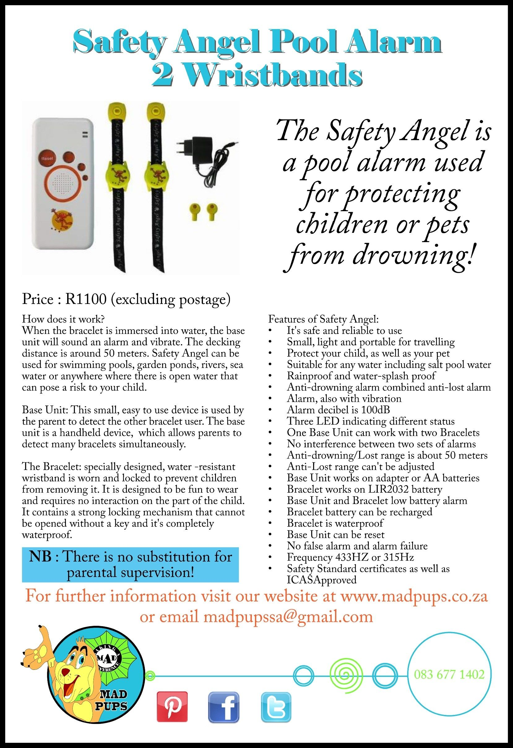 The Safety Angel Is A Pool Alarm Used For Protecting