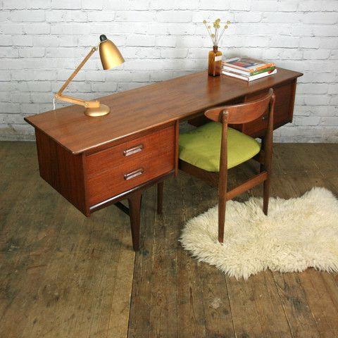 mid century younger codan teak desk