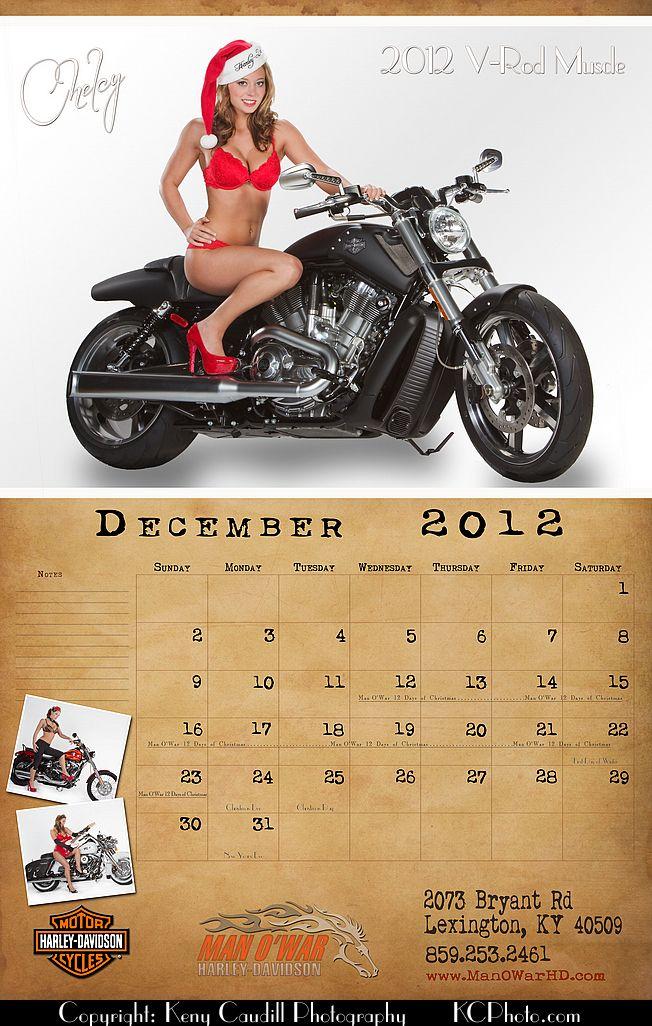 Man O'War Harley Davidson 2012 Calendar | Pin Ups | Pinterest | 2012