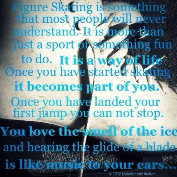 Figure Skater and proud of it!