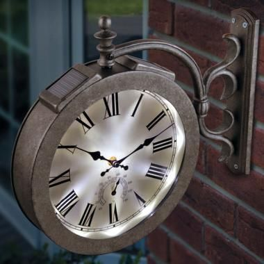 The Outdoor Lighted Clock Thermometer