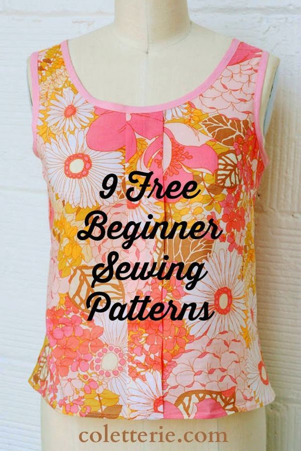 9 More Free Beginner Sewing Patterns | Sewing patterns, Tutorials ...