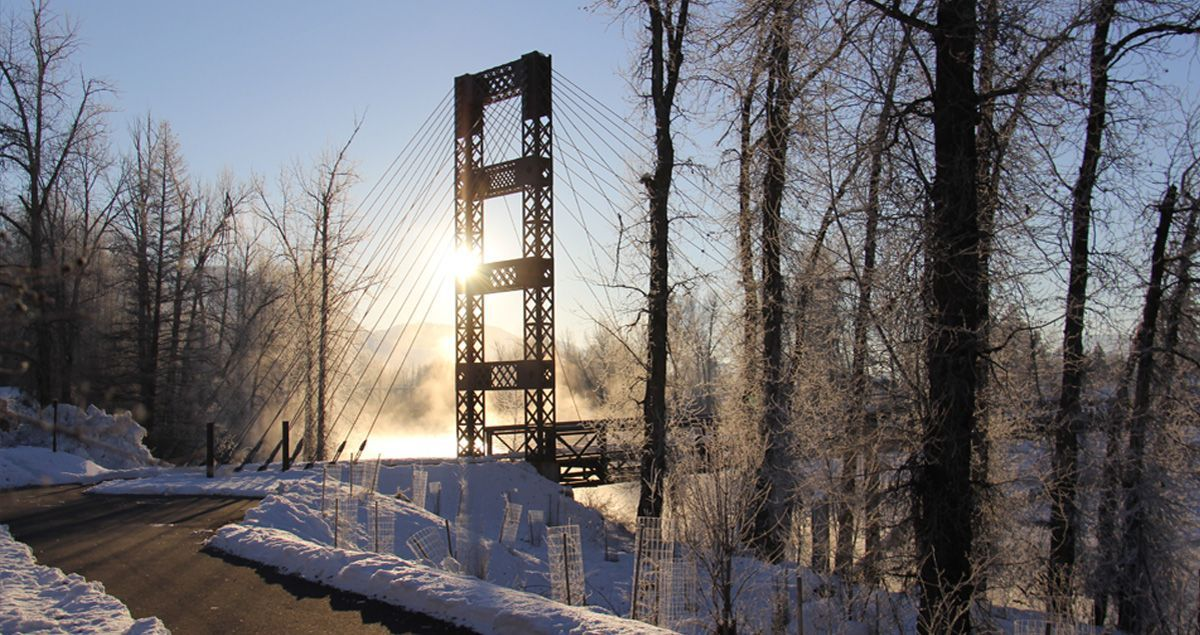 Winter Wonderland. Just down the way from PIne Near RV