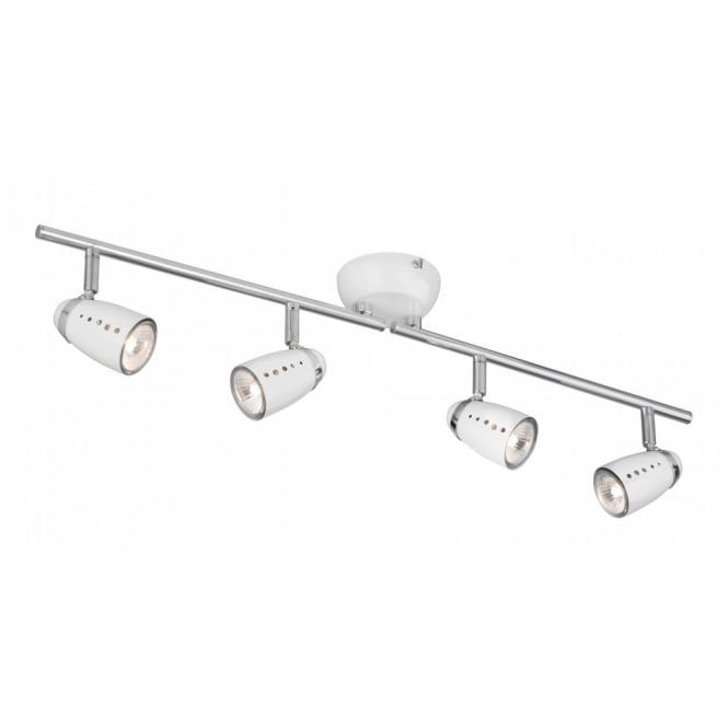 Adjule Spotlight Bar In White And Chrome With 4 Spotlights This Is The Smaller Of