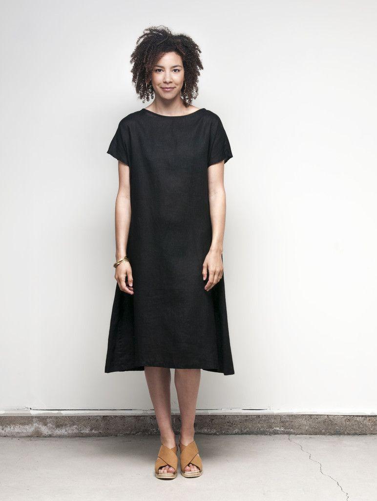 Charlotte Dress: Black – Shop Fog Linen