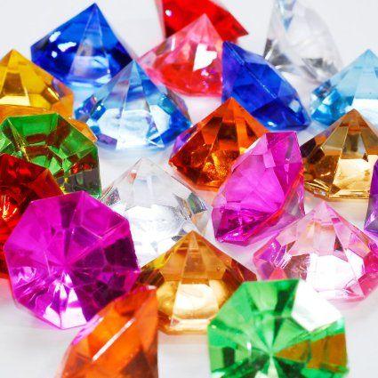 Mini Turquoise Acrylic Crystal Diamond Gems vase Confetti Table Scatter 1 lb