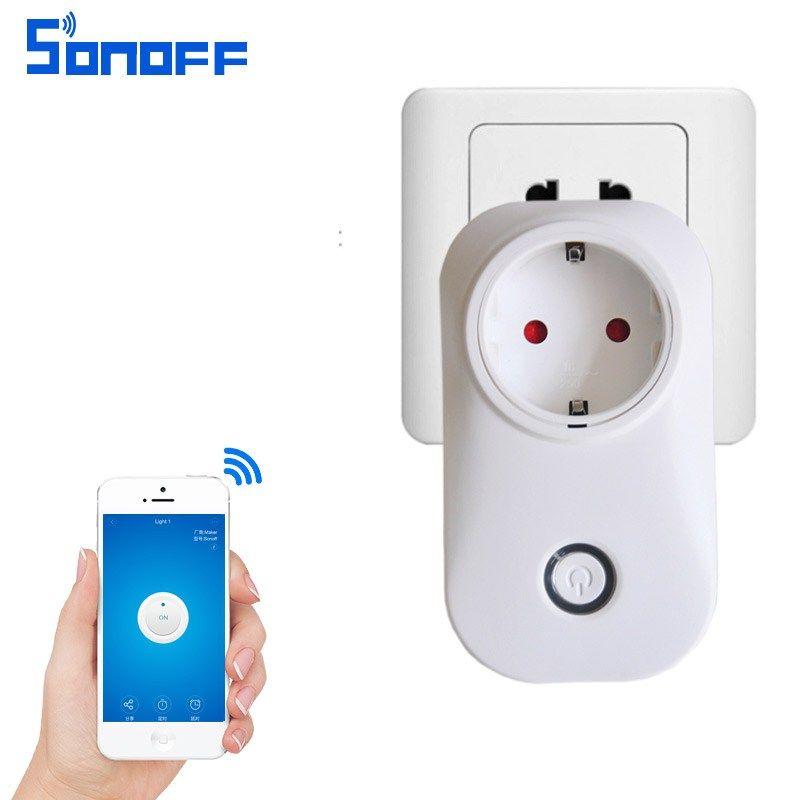 Discount! US $15.84 sonoff s20 wifi socket eu/US plug remote control ...