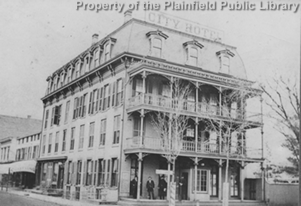 This Photograph Taken In The 1880s Or 1890s Shows City Hotel Plainfield