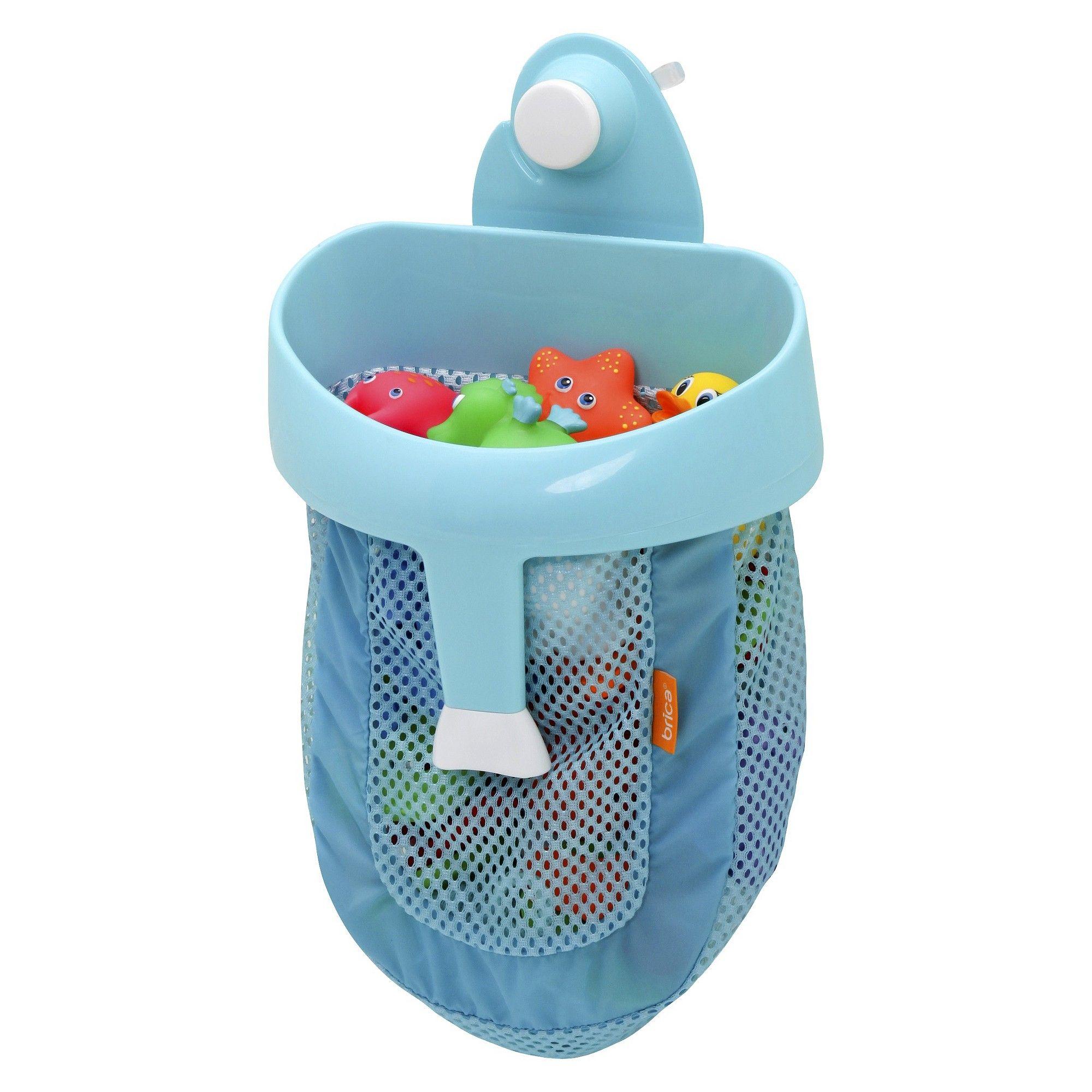Brica Super Scoop Bath Toy Organizer with Wall Suction - Blue | Bath ...