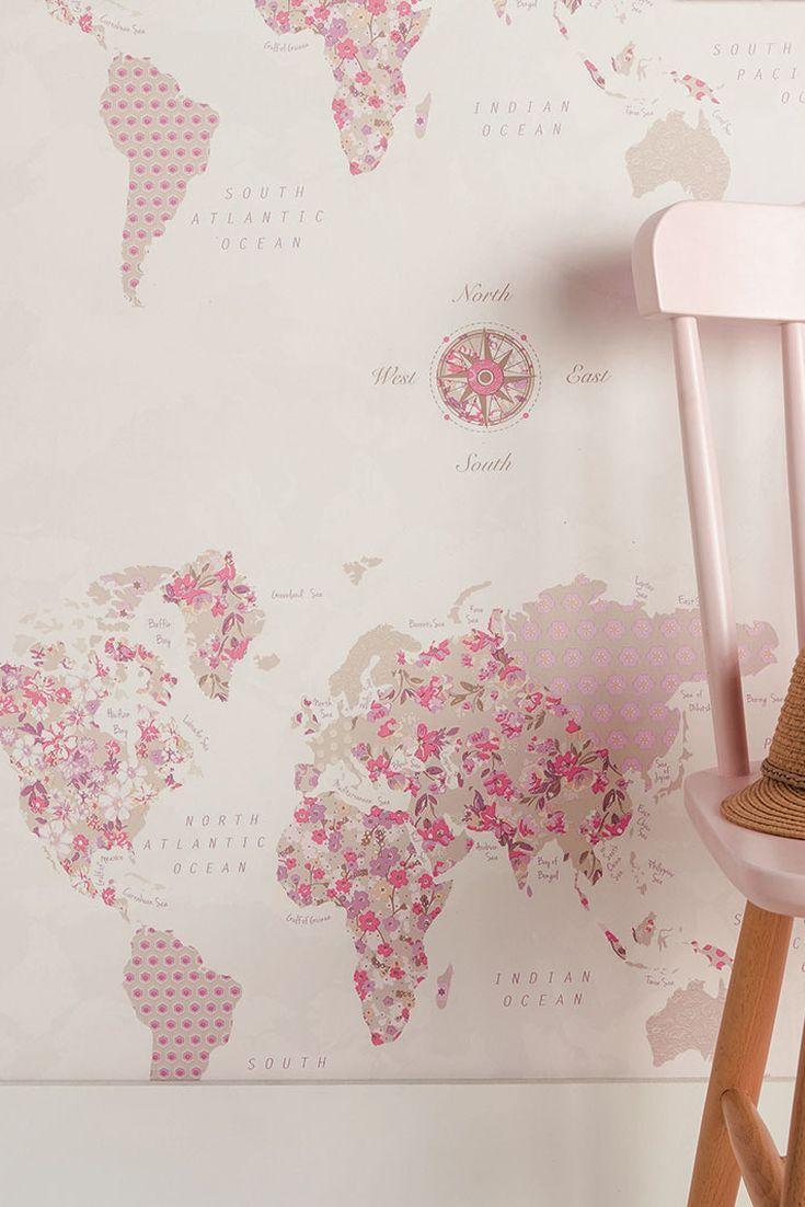 world map wallpaper design by caselio